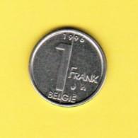 BELGIUM  1 FRANC 1996 (DUTCH) (KM # 188) - 1993-...: Albert II