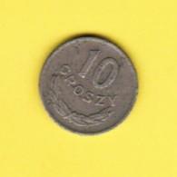POLAND  10 GROSZY 1949 (Y # 42a) - Poland
