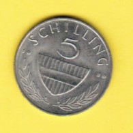 AUSTRIA  5 SCHILLING 1989 (KM # 2889a) - Austria