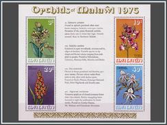 Malawi BL 0040** Orchidées  1975  MNH