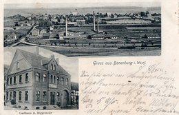 WARBURG.  -  BONENBURG  I. WESTF.  -   G Asthaus  A.NIEGGEMEIER  -  Septembre 1907 - Warburg