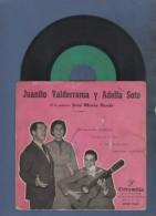 DISCO DE VINILO 45 T - JUANITO VALDERRAMA Y ADELFA SOTO - A LA GUITARRAS JOSE MARIA PARDO - COLUMBIA - Discos De Vinilo