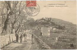 07/Vernon  -l'Eglise Et Le Chateau N° 750 Ardeche Pittoresque - Francia