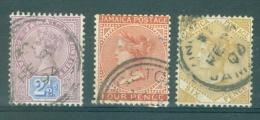 JAMAICA - St. Gibbons Nr 11 + 23a + 29 - Gestempeld/oblitéré - Cote 15,00 GBP - Jamaique (1962-...)