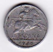 Espagne - SPAIN - PIECE DE 10 Centimes -  Diez Centimos - 1945 - [ 4] 1939-1947 : Gouv. Nationaliste