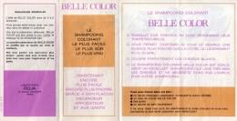 Dépliant Publicitaire Belle Color - Laboratoires Roja, 1967 - Parfums & Beauté