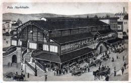Cpa POLA, Markthalle, Grand Halle De Marché, Escalier Double, Animation ++ (52.81) - Croatie