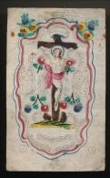 IMAGE PIEUSE +- Fin 1870 A 1900 - 3 Scans - 13 X 8 CM - Images Religieuses