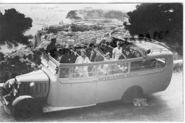 MONACO - MONTE CARLO -   CARTE PHOTO AUTO CARS RICOU - 1933  AUTOBUS - Monte-Carlo