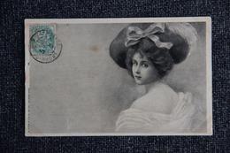 Femme Romantique Au Chapeau à Ruban - Femmes