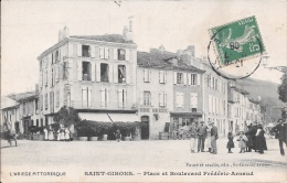SAINT-GIRONS - Place Et Boulevard Frédéric-Arnaud. - Saint Girons