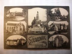 Carte Postale Rougé (44) Multivues Souvenir De Rougé (Petit Format Noir Et Blanc Non Circulée ) - France