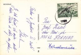 L0934 - Yugoslavia (1981) 11101 Beograd (postcard To Czechoslovakia) Tariff: 5,60 (stamp: Uzice 1941 - WW2) - 2. Weltkrieg