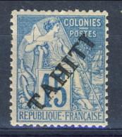 Tahiti 1893 N. 12 C. 15 Azzurro MH Catalogo € 80