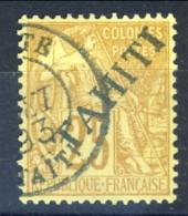 Tahiti 1893 N. 14 C.  25 BISTRO Usato Catalogo € 9000 Sovrastampa FALSA