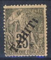 Tahiti 1893 N. 15 C.  25 Nero Su Rosa MH Catalogo € 80