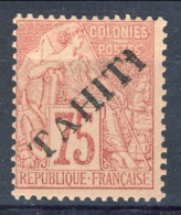 Tahiti 1893 N. 17 C.  75 Rosa MH Catalogo € 130