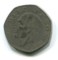 1981 Mexico 10 Pesos Coin - Mexico