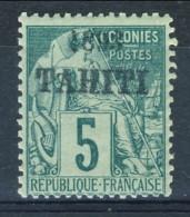 Tahiti 1893 N. 22 C. 5 Verde MH Catalogo € 1300 Sovrastampa Probabile FALSA