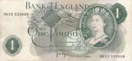 Grande Bretagne Billet 1 Pound - 1952-… : Elizabeth II