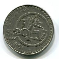 1981 Mexico 20 Pesos Coin - Mexico