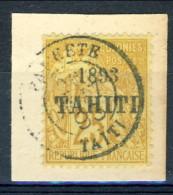 Tahiti 1893 N. 26 C. 25 Bistro Usato Catalogo € 45000 Sovrastampa FALSA