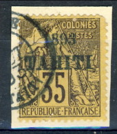 Tahiti 1893 N. 28 C. 35 Violetto Nero Su Su Giallo Usato Catalogo € 2700 Sovrastampa Probabile FALSA