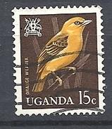 UGANDA      1965 Birds     USED  Orange Weaver - Uganda (1962-...)