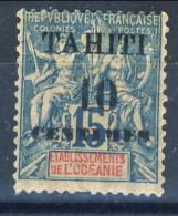 Tahiti 1903 N. 33 C. 10 Su C. 15 MH Catalogo € 11