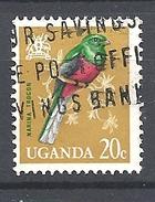 UGANDA      1965 Birds     USED  The Narina Trogon (Apaloderma Narina) - Uganda (1962-...)