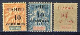 Tahiti 1903 Serie 31. 32, 33 MH (. 35 Decalco Della Sovrastampa) Catalogo € 35