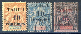 Tahiti 1903 Serie 31. 32, 33 Usati Catalogo € 35