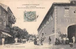 07 - ARDECHE - Joyeuse -route De Lablachère Et Grand Hôtel Malignon - Belle Animation - Joyeuse