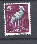 UGANDA      1965 Birds     USED Balaeniceps Rex  The Shoebill - Uganda (1962-...)