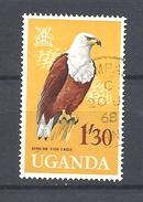 UGANDA      1965 Birds     USED  -The African Fish Eagle (Haliaeetus Vocifer) - Uganda (1962-...)