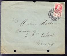 COB 74 Seul Sur Lettre, Trous D'archive, Défraichi. (6AL461) - 1905 Thick Beard