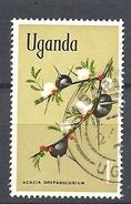 UGANDA      1969 Flowers    USED  Vachellia Drepanolobium (syn. Acacia Drepanolobium), Commonly Known As Whistling Thorn - Uganda (1962-...)