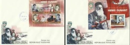 Togo 2010, Red Cross, Dunandt, Car, 2FDC