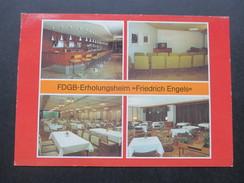 AK DDR 1990 FDGB Erholungsheim Friedrich Engels. Templin - Hotels & Gaststätten