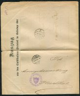 1880 Switzerland Aarau Document - Hirschthal - 1862-1881 Helvetia Assise (dentelés)