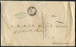 Switzerland Furst. Inspectorat Graubunden Cher Cover - 1862-1881 Helvetia Assise (dentelés)