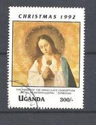 UGANDA      1992 Christmas - Religious Paintings By Francisco Zurbaran USED - Uganda (1962-...)