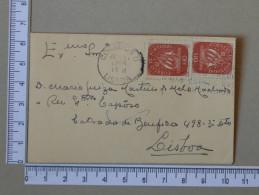 PORTUGAL    - ENVELOPE CIRCULADO - LISBOA   - 2 SCANS - (Nº16891) - FDC