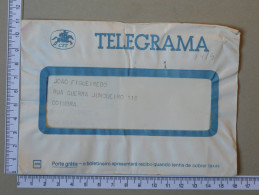 PORTUGAL    - TELEGRAMA - CTT   - 2 SCANS - (Nº16893) - Télégraphes