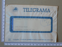 PORTUGAL    - TELEGRAMA - CTT   - 2 SCANS - (Nº16894) - Télégraphes