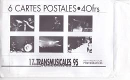 Rock Transmusicales Rennes (35 France) 1995- 7 Cartes Postales -Balda Wilson -Alan Stivell Doo Rag Little Chris Ballew -