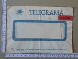 PORTUGAL    - TELEGRAMA - CTT   - 2 SCANS - (Nº16895) - Telegrafi