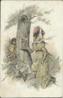 CP -     Fantaisie  - D´une  Jeune Femme  Poste D'Amour - Ange ... Dos Pezenas  1905 - Künstlerkarten