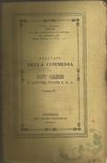 Cesari Antonio, Bellezze Della Commedia Di Dante Alighieri, Vol. II, Purgatorio, Parma, Fiaccadori, 1845, Pp. 536. - Libri Vecchi E Da Collezione