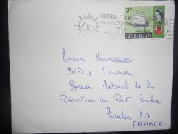 Gibraltar Lettre De 1968 Pour Toulon - Gibraltar